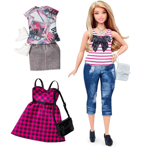 Barbie Fashionistas Curvy Blonde Bebek
