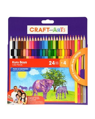 Craft And Arts 28 Renk Jumbo Kuru Boya