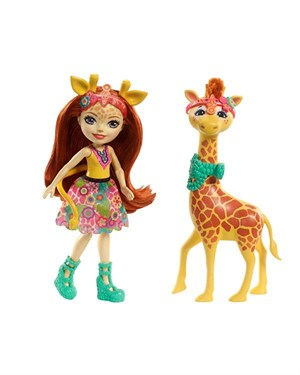 Enchantimals Bebekler-Gillian Giraffe-Pawl FKY74